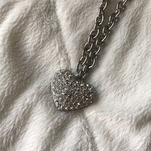 GUESS ♥️ Bedazzled Heart Necklace